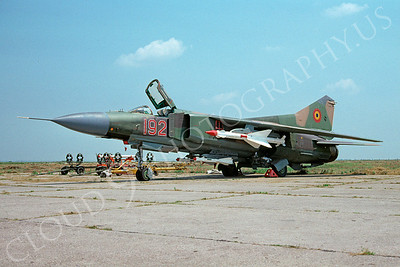 Mikoyan-Guryevich MiG-23 Flogger 00029 Mikoyan-Guryevich MiG-23 Flogger Romanian Air Force 192 by Fred Willemsen via via African Aviation Slide Service