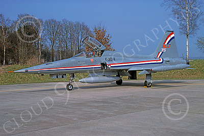 F-5Forg 00060 Northrop F-5E Freedom Fighter Dutch Air Force K-3014 April 1988 by B Fisher via African Aviation Slide Service