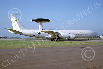 E-3Forg 00031 A taxing Boeing E-3 Sentry Royal Saudi Air Force 1802 6-2002 military airplane picture by David Spark