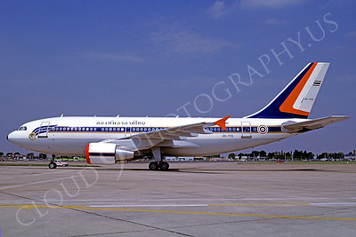Airbus A310 00001 Airbus A310 Royal Thai Air Force HS-TYQ August 1992 via African Aviation Slide Service