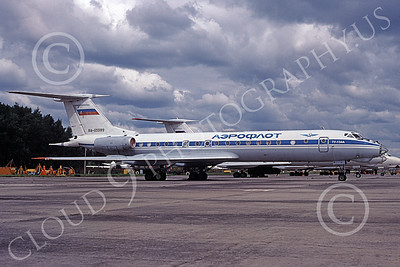 TU-134 00009 A static line up of Tupolev Tu-134s Aeroflot Russian Air Force 8-2009 military airplane picture by Charles Cummings