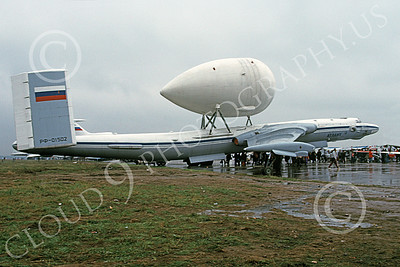 Mya-4 Bison 00005 A static Myasischev Mya-4 Bison Russian Air Force with an unusual large attachment 9-1993 military airplane picture by Clint Lewis