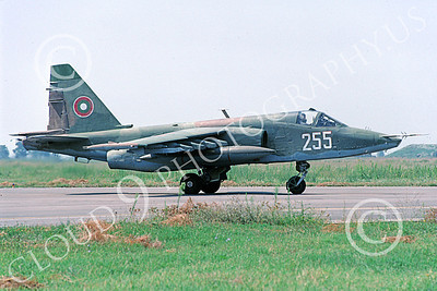 Su-25 00023 A taxing Sukhoi Su-25K Frogfoot Serbian Air Force 255 6-2000 military airplane picture by Hans Werner