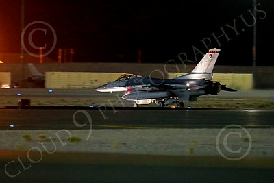 F-16Forg 00001 A Singapore Air Force Lockheed F-16 Viper jet fighter begins its take-off roll at night at Nellis AFB 7-2014 military airplane picture by Peter J Mancus