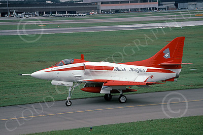 A-4Forg 00013 A taxing Signapore Air Force Douglas A-4E Skyhawk attack jet, BLACK KNIGHTS Flight Demonstration Sqd, 3 Sept 2000, military airplane picture