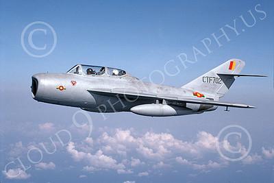 Mikoyan-Guryevich MiG-15UTI Fagot 00002 A gray Sri Lanka Air Force MiG-15UTI Fagot jet fighter trainer, 4-1990, by P Steinemann