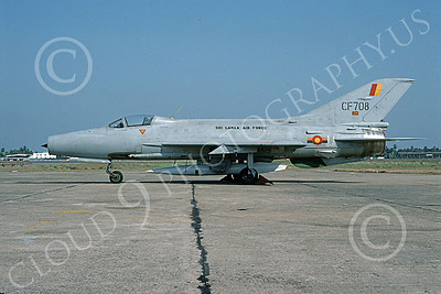 Mikoyan-Guryevich MiG-21 Fishbed 00039 A static Sri Lanka Air Force MiG-21 Fishbed  jet fighter, 4-1996, by Geoff Bloomberg