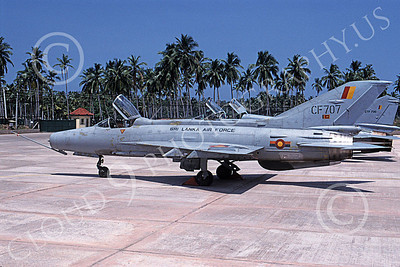 Mikoyan-Guryevich MiG-21 Fishbed 00041 A static Sri Lanka Air Force MiG-21 Fishbed  jet fighter, 4-2003, by Geoff Bloomberg
