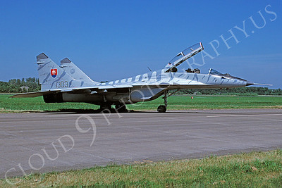 Mikoyan-Guryevich MiG-29 Fulcrum 00031 Mikoyan-Guryevich MiG-29 Fulcrum Slovakian Air Force July 1995 via African Aviation Slide Service