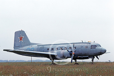 Il-14 00001 A static Ilyushin Il-14 Crate Soviet Air Force 9-1993 military airplane picture by Michael Byrne