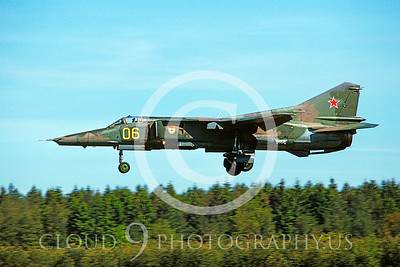 MiG-23 00002 Mikoyan-Gureyvich MiG-23 Flogger Soviet 1991 by Wilfried Zetsche via AirDOC Collection