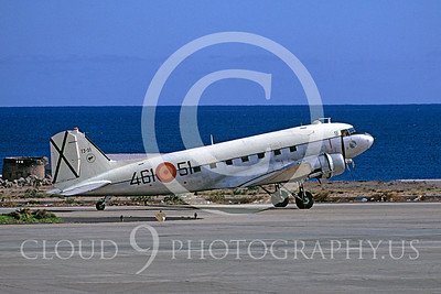 C-47Forg 00017 Douglas C-47 Skytrain Spanish Air Force 46151 December 1974 by Gerhard W Joos