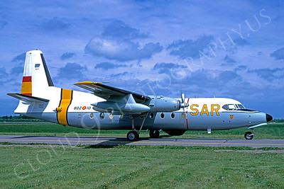 Fokker F-27 Friendship 00003 Fokker F-27 Friendship Spanish Air Force 25 May 1991 by Gerrit Bouma via African Aviation Slide Service