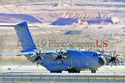 A400M-Spain 0006 An Airbus A400M Atlas turboprop military transport Spanish Air Force taxis at Nellis AFB during a 3-2020 Red Flag exercise military airplane picture by Peter J  Mancus     852_2260     Dt