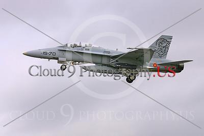 F-18Forg 00058 McDonnell Douglas F-18B Hornet Spanish Air Force by Paul Ridgway
