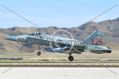 F-18Forg 00032 McDonnell Douglas F-18A Hornet Spanish Air Force Nellis AFB by Paul Ridgway