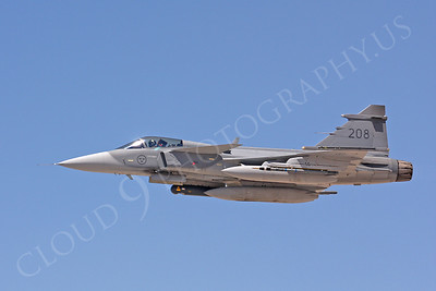 SAAB JAS 39 Gripen 00008 Swedish Air Force 208 by Carl E Porter