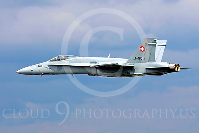 F-18Forg 00040 McDonnell Douglas F-18A Hornet Swiss Air Force J-5011 by Paul Ridgway
