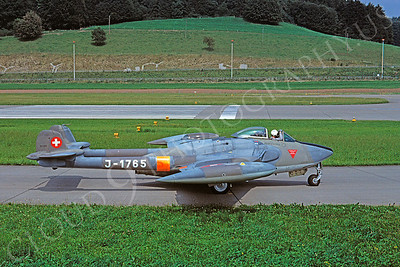 de Havilland Vampire 00011 de Havilland Vampire Swiss Air Force J-1765 September 1977 by Clive Moggoridge