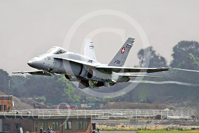 F-18Forg 00030 McDonnell Douglas F-18A Hornet Swiss Air Force J-5011 by Paul Ridgway