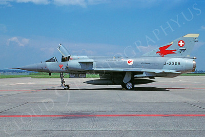 Dassault Mirage IIIB 00011 Dassault Mirage IIIB Swiss Air Force J-2308 August 1997 via African Aviation Slide Service