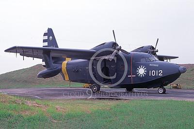 HU-16Forg 00003 A static Grumman HU-16D Albatross Taiwainese 4-1987, by Paul Steinmann