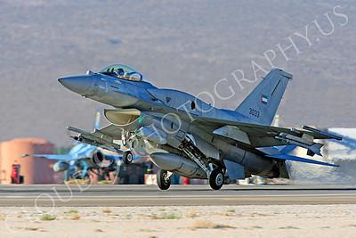 F-16E 00003 Lockheed Martin F-16E Desert Falcon United Arab Emirates Air Force UAEAF 3033 Nellis AFB by Peter J Mancus