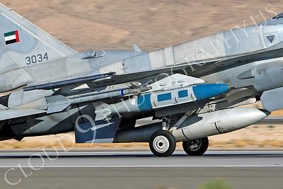 F-16E 00015 Lockheed Martin F-16E Desert Falcon United Arab Emirates Air Force UAEAF 3034 Nellis AFB by Peter J Mancus