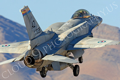 F-16E 00022 Lockheed Martin F-16E Desert Falcon United Arab Emirates Air Force UAEF 003028 Nellis AFB by Peter J Mancus