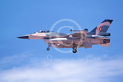 F-16Forg 00088 A landing Lockheed Martin F-16 Fighting Falcon jet fighter Venezuelan Air Force 9864 7-1996, by Michael Grove, Sr