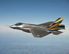 F35 Over Water