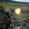A Romanian Army Soldier fires a Mitraliera md. 66 at a target during the Combined Arms Live Fire Exercise portion of Combined Resolve II at Grafenwoehr Training Area, Germany, June 26, 2014. (Photo by U.S. Air Force Staff Sgt. Andrew Davis)