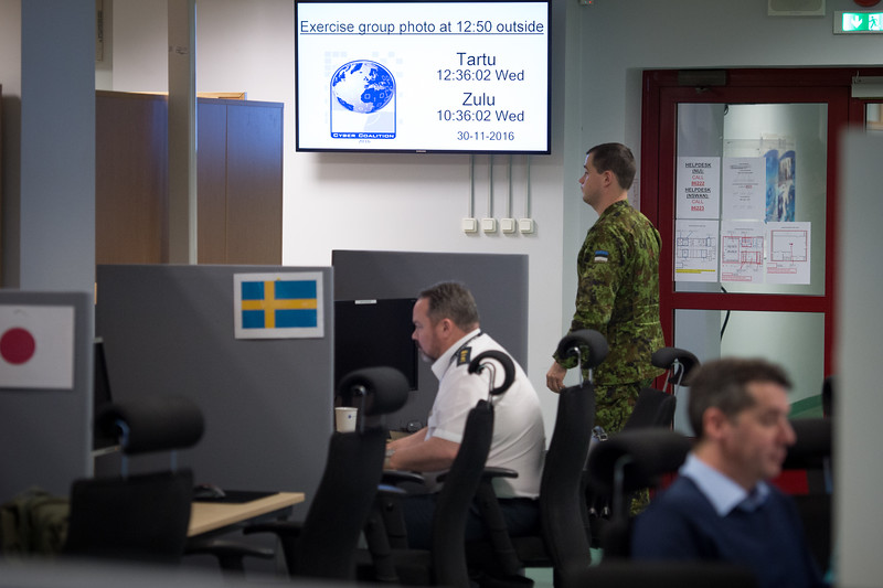 November 30, 2016. NATO and partner nations civilians, military work together and closely collaborate during NATO exercise Cyber Coalition 16 in Tallin, Estonia.<br /> This Cyber defense exercise, organized and run by NATO's Allied Command Transformation (ACT), will have participants from 27 NATO nations, numerous NATO Partner nations, NATO Computer Incident Response Capability (NCIRC) Technical &<br /> Coordination Centres, the European Union Cyber Defence Staff, ensures that NATO and its Partners will be prepared to respond, collectively if necessary, when confronted by any threat and will be able to do so in accordance with international law, including the UN Charter, as applicable.<br /> (NATO Photo by NIC Edouard Bocquet)