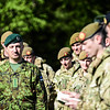 Estonian Commander of the Army Col. Artur Tiganik, stands at the Bond of Friendship ceremony between the Estonian Scouts Batallion and the British Duke of Lancasters Regiment in Oteppa, Estonia MAy 17, 2014.  (Photo by U.S. Air Force Staff Sgt. Andrew Davis)