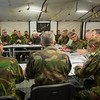 SAB meeting with General Dormroese, COMJTF (COMJFC Brunssum) - Exercise Steadfast Jazz Baltic Host - Adazi Camp, Latvia. 1st Nov 2013 ( NATO photo by Sgt. Emily Langer/ DEU Army )