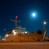 HNLMS Vlaardingen (M863), from the Royal Netherlands Navy, at Frederikshavn Naval Base, Denmark, prior to the start of Ex DANEX-NOCO 2012, on 31 Aug 12.Exercise DANEX-NOCO 2012 is a combined Danish-German naval exercise with 15 participating nations and nearly 50 ships operating off the Danish coast from 3 to 12 September.  The aim of the exercise is to allow the units to experience and train within a multinational naval force.  In addition to the ships there are helicopters and aircraft from Denmark, Germany, USA, France and Sweden, as well as a large number of other Navy units.(Photograph by SSgt Ian Houlding, GBR Army)