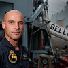 Petty Officer Second Class Xavier Dedeckere, 36, from Antwerp, Belgium, on board the BNS Bellis, a minehunter from the Belgium Naval Component.  PO Dedeckere, who began his naval career in 1999, is one of four Explosive Ordnance Disposal (EOD) divers aboard the BNS Bellis.  The BNS Bellis is taking part in Exercise DANEX-NOCO 2012 as part of it's training prior to joining the Standing NATO Mine Countermeasures Group 1 (SNMCMG1) in 2013, one of NATO`s two specialist Mine Countermeasures (MCM) Groups.<br /> <br /> Exercise DANEX-NOCO 2012 is a combined Danish-German naval exercise with 15 participating nations and nearly 50 ships operating off the Danish coast from 3 to 12 September.  The aim of the exercise is to allow the units to experience and train within a multinational naval force.  In addition to the ships there are helicopters and aircraft from Denmark, Germany, USA, France and Sweden, as well as a large number of other Navy units.<br /> <br /> (SSgt Ian Houlding, GBR Army)