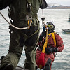 A Finnish Diver is load out a Finnish Army NH-90 helicopter to the sea during a Sea Search and Rescue training with the Icelandic Coast Guards, giving them the opportunity to test their interoperability  during the Iceland Air Meet 2014 in Iceland on Feb. 13, 2014.<br /> The Iceland Air Meet 2014 (IAM2014) brings together participants from NATO member nations Norway, Iceland and the Netherlands, and from partner countries Finland and Sweden, to conduct a wide range of air defence-related flying activities.<br /> It is the first time that Finland and Sweden have deployed to Iceland. It  improves deployability and interoperability, provides additional training opportunities and further strengthen Nordic defence cooperation (NORDEFCO), between both NATO members and non-members.<br /> (NATO photo by Edouard Bocquet)