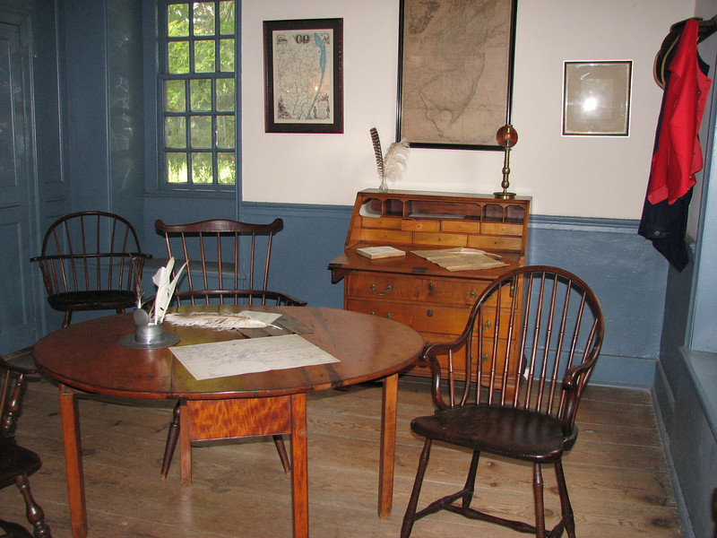 This room was used as a conference room for military leaders.