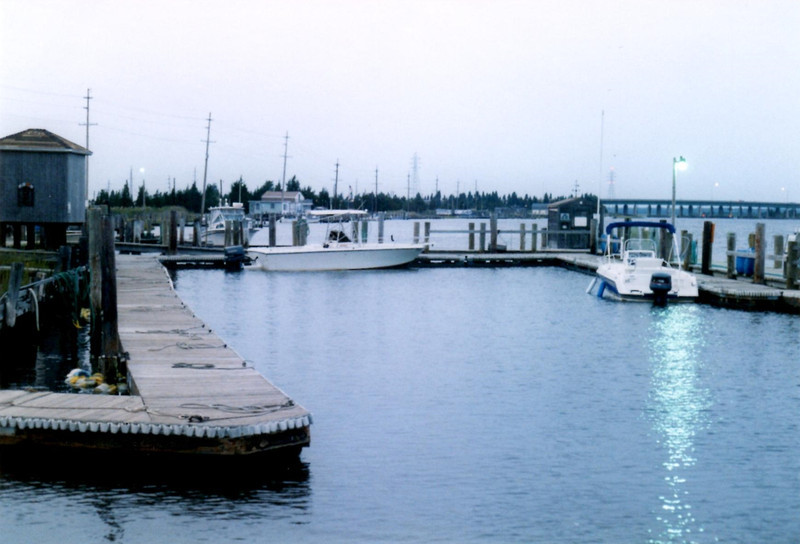 View of the nearby waterfront where privateers were based during the Revolutionary War.
