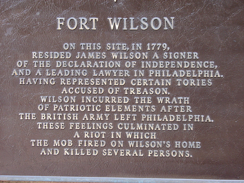 Close-up of the plaque