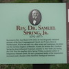 Small sign at Rev. Spring, Jr's grave