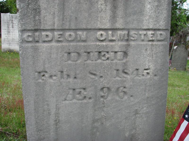Gideon Olmsted's gravestone