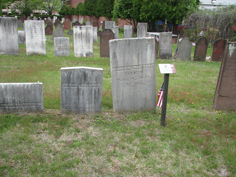 The setting of Olmsted's grave