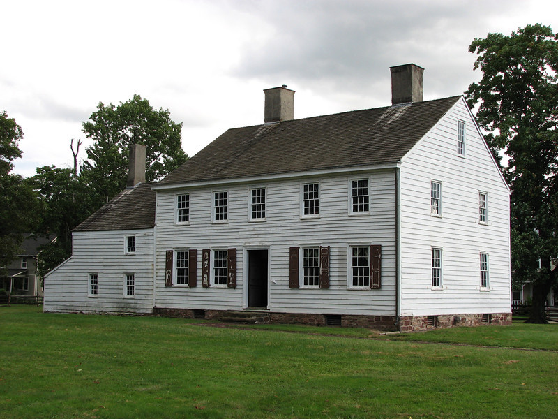 View of the front of the Wallace House.