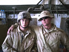 Chuck Jr and his buddy in Iraq.