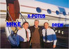 Corporate Gulfstream Jet Pilot Mike Benson,President William J. Clinton, & Co-Pilot Drew.