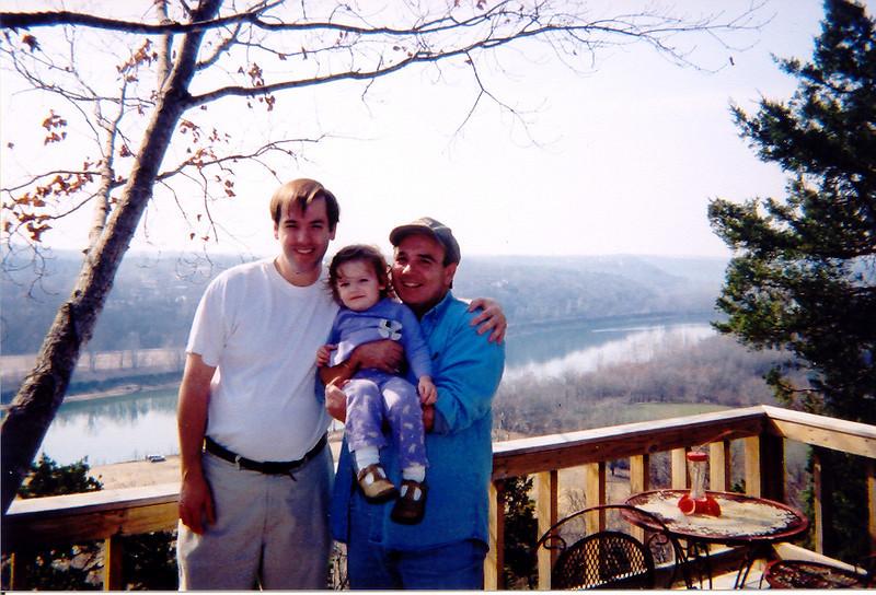 Erik, Madison, me, at Compton's Cabin 2003.