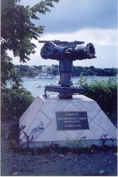 Captain Keith J Lucas Memorial in Grenada.