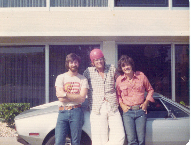 Me and some buddies in front of Criteria Recording Studios, Miami, Florida in the mid '70s.